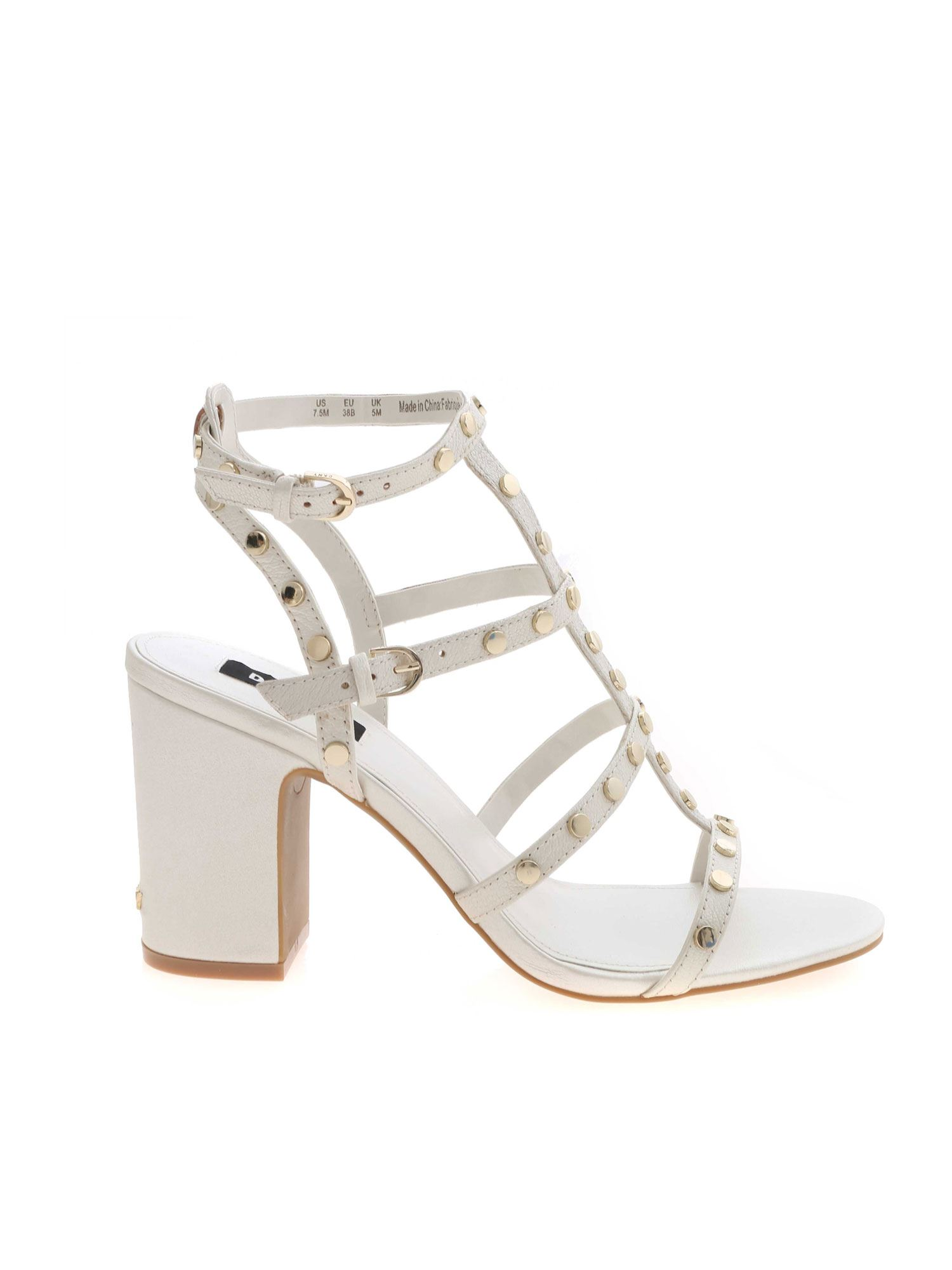 Dkny Leathers HANZ SANDALS IN WHITE