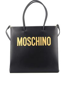 Moschino - Logo lettering tote in black