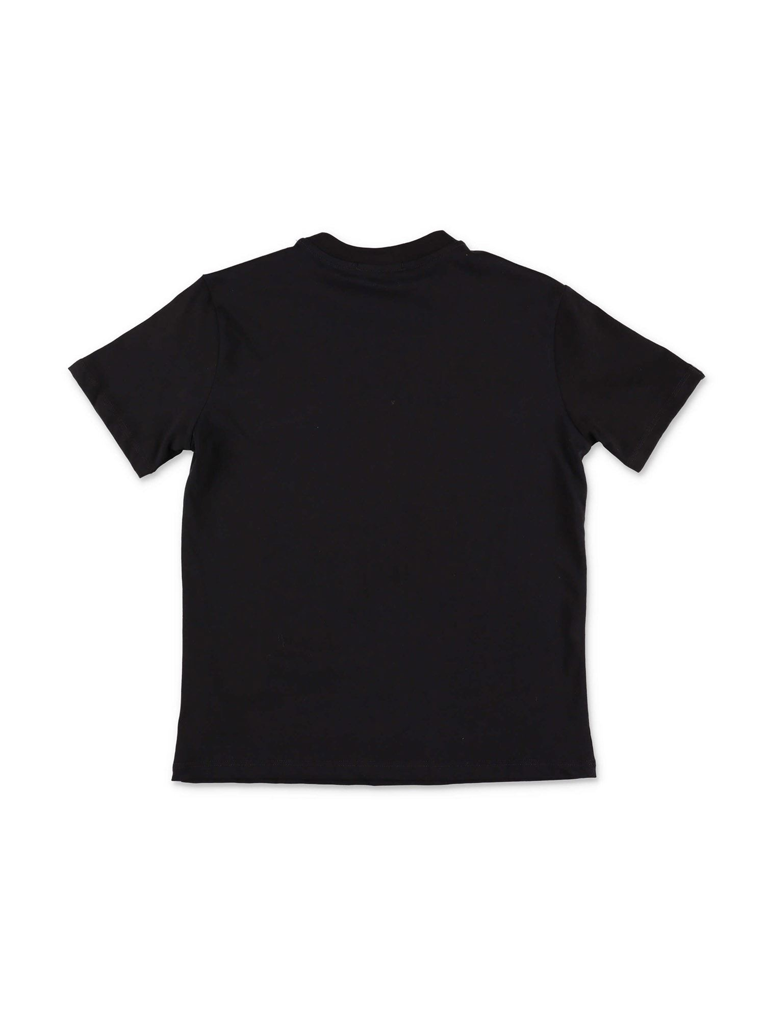 MSGM Cottons PRINTED T-SHIRT IN BLACK AND YELLOW