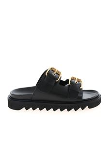Moschino - Branded buckles sandals in black
