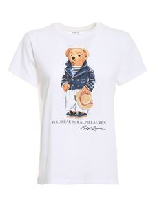 POLO Ralph Lauren - Printed cotton T-shirt in white