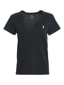 POLO Ralph Lauren - V neck T-shirt in black