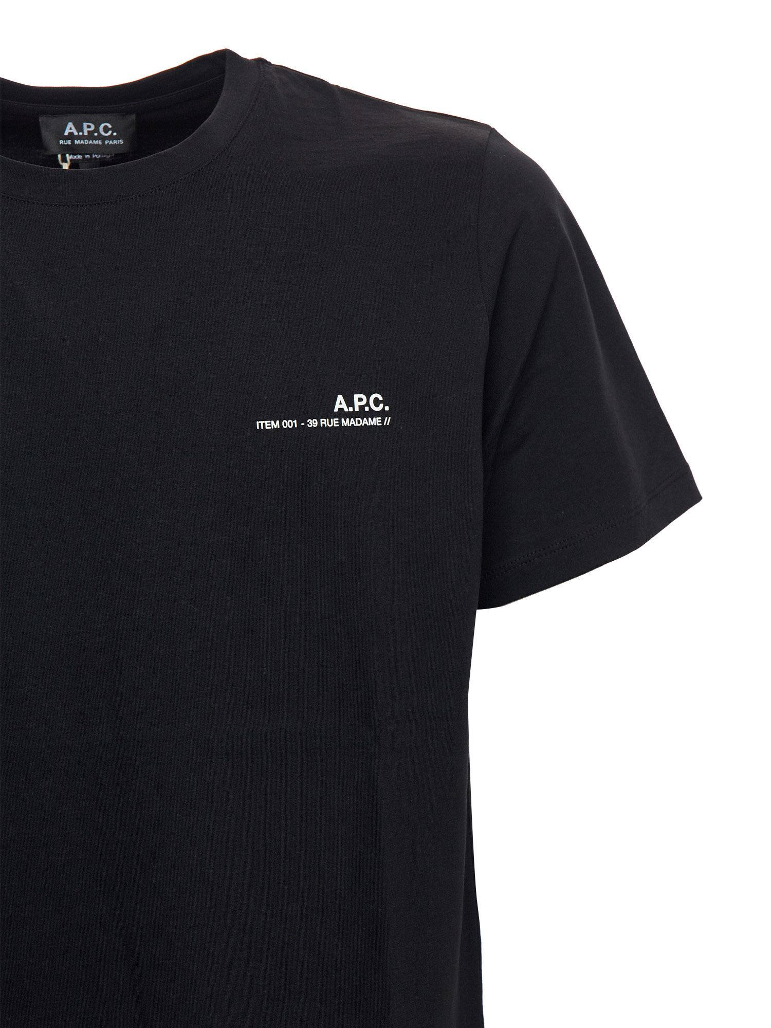 A.P.C. Cottons ITEM T-SHIRT IN BLACK