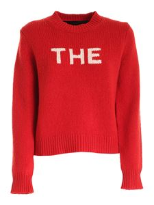 Marc Jacobs  - White inlay jumper in red