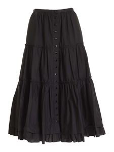 Marc Jacobs  - Flounced skirt in black