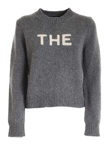 Marc Jacobs  - Beige inlay jumper in grey