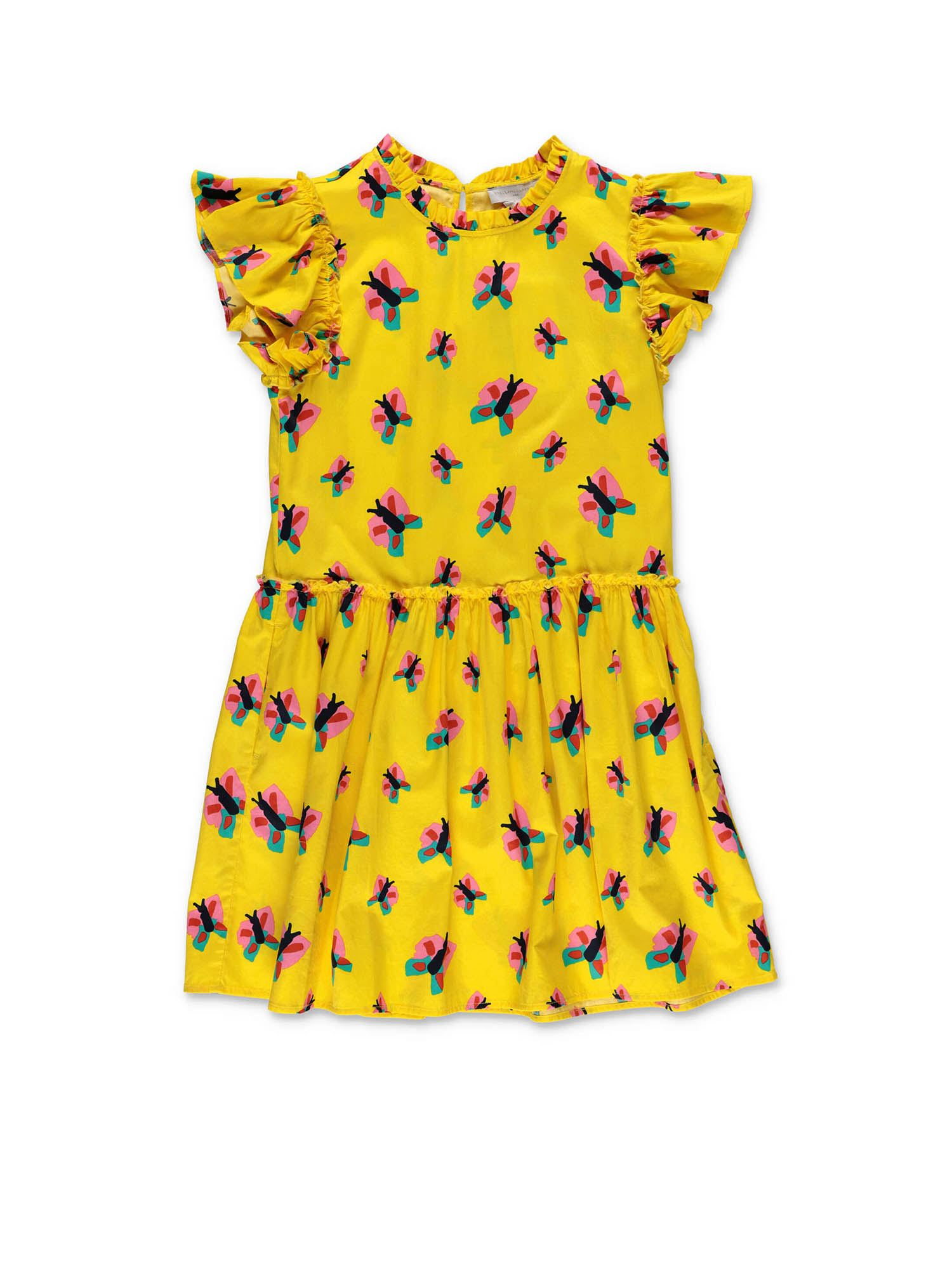 Stella Mccartney BUTTERFLY DRESS IN YELLOW