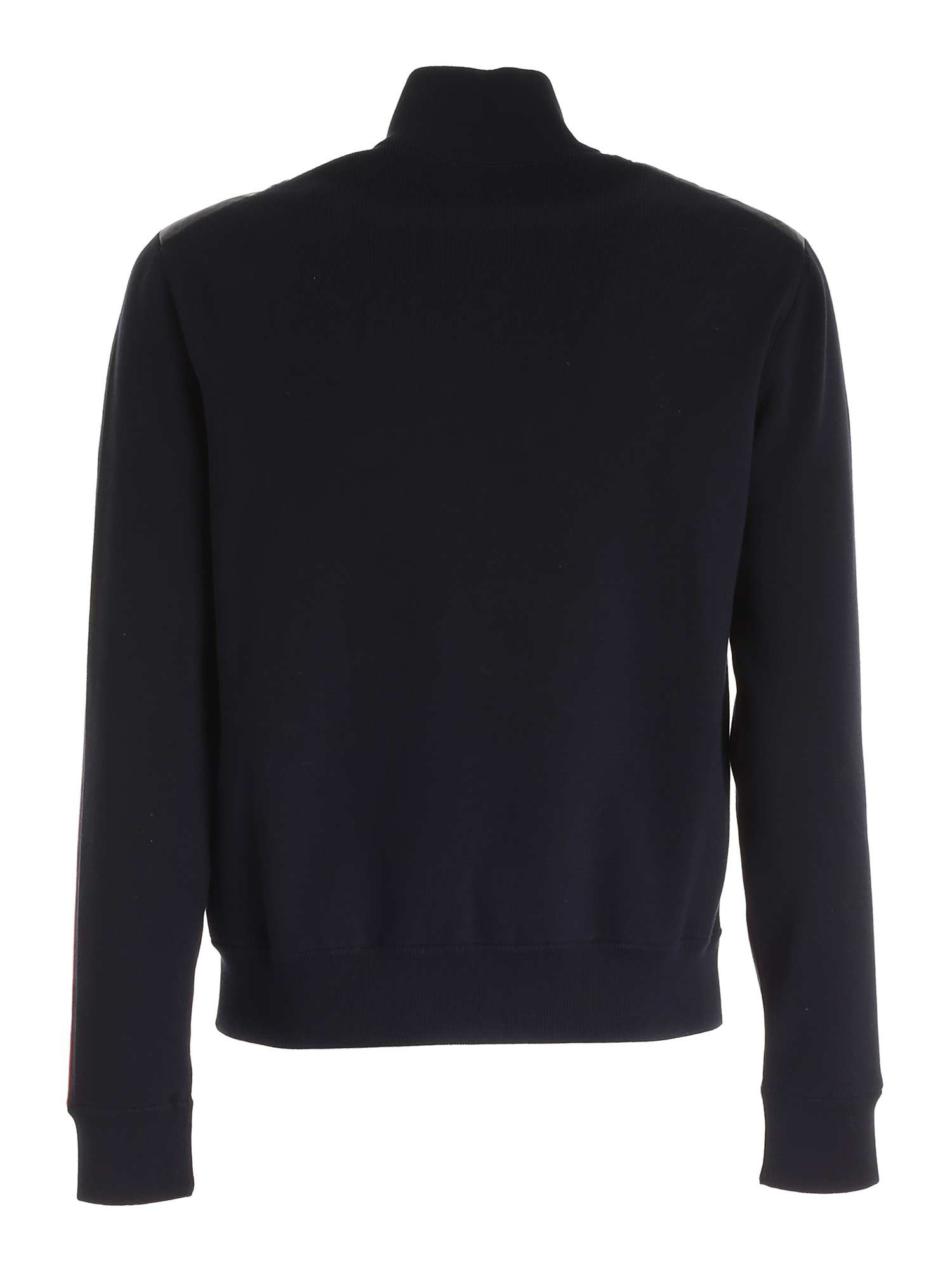 MONCLER Downs PADDED TRICOT CARDIGAN IN BLUE