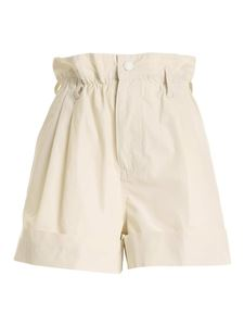 Moncler - Curled bermuda shorts in white