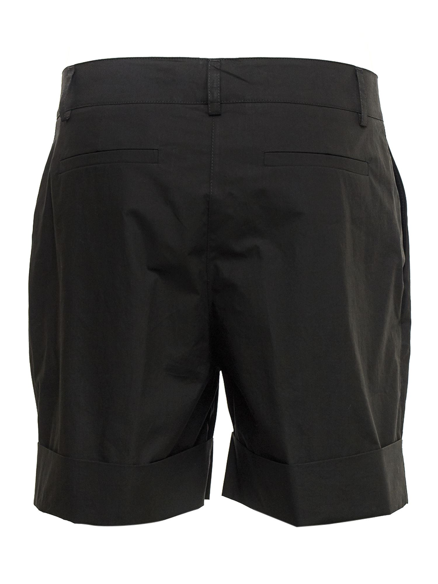 P.A.R.O.S.H. Cottons COTTON POPLIN SHORTS IN BLACK