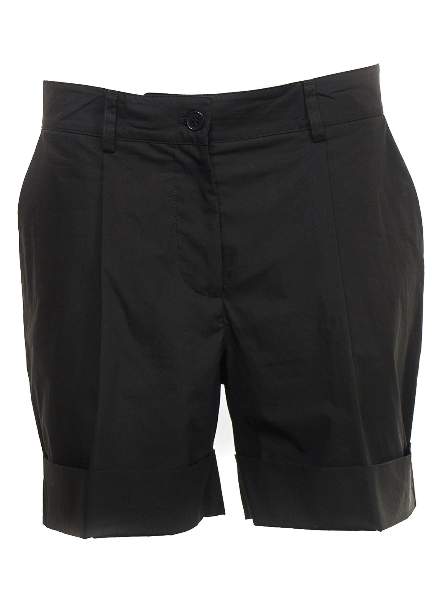 P.a.r.o.s.h. COTTON POPLIN SHORTS IN BLACK