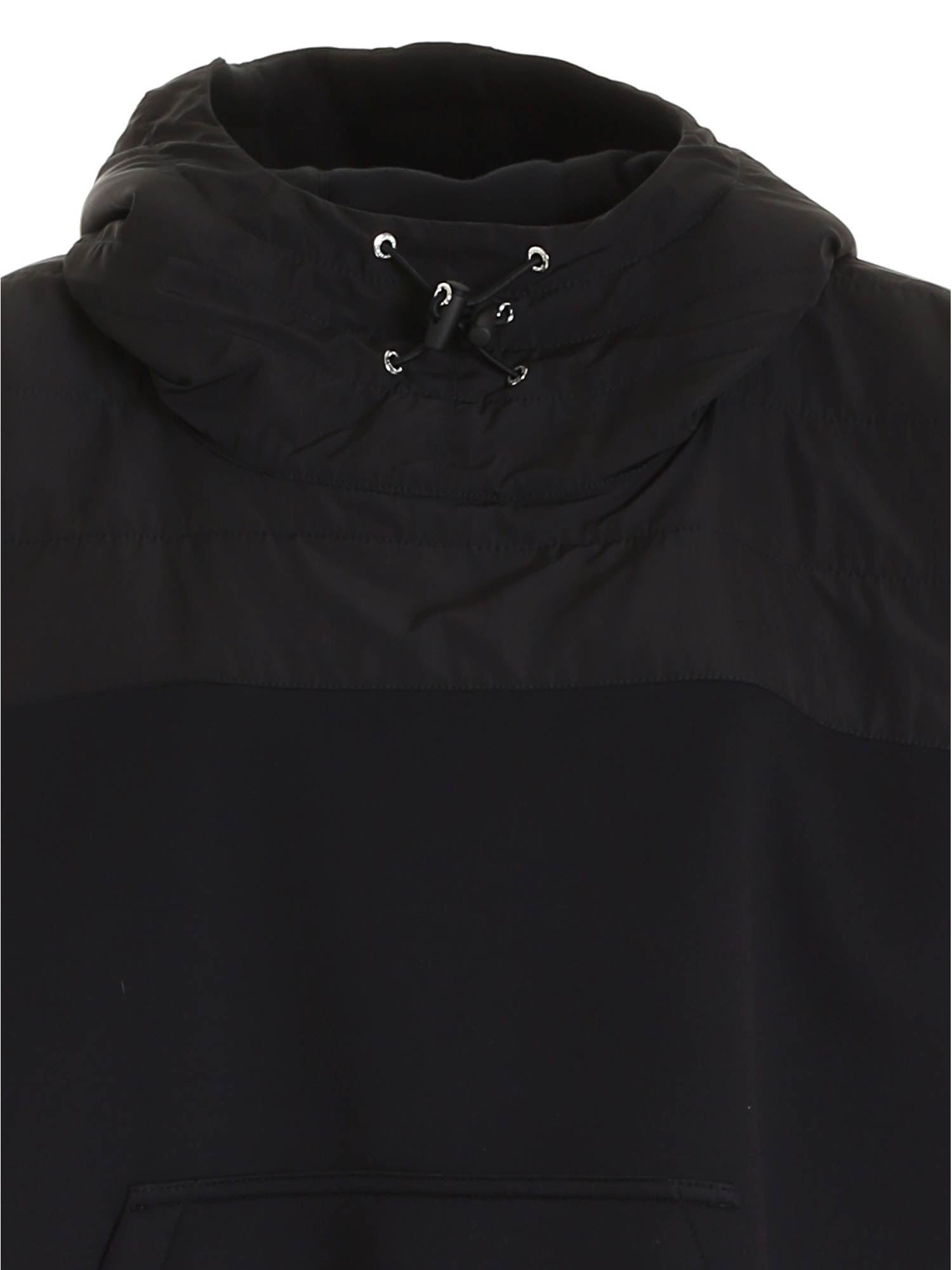 MONCLER Linings HOODED PONCHO IN BLACK