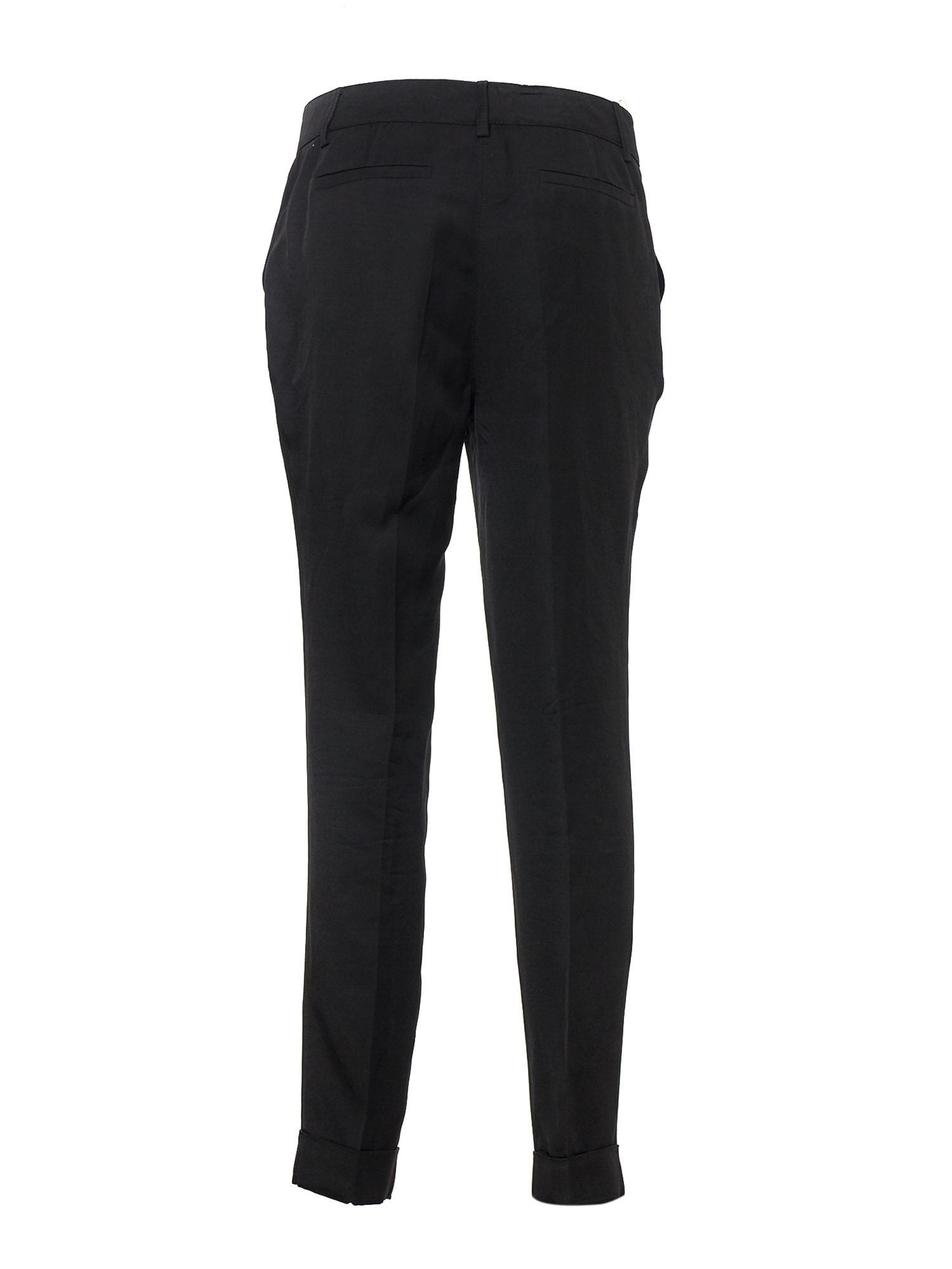 P.A.R.O.S.H. Linens SLIM TROUSERS IN BLACK