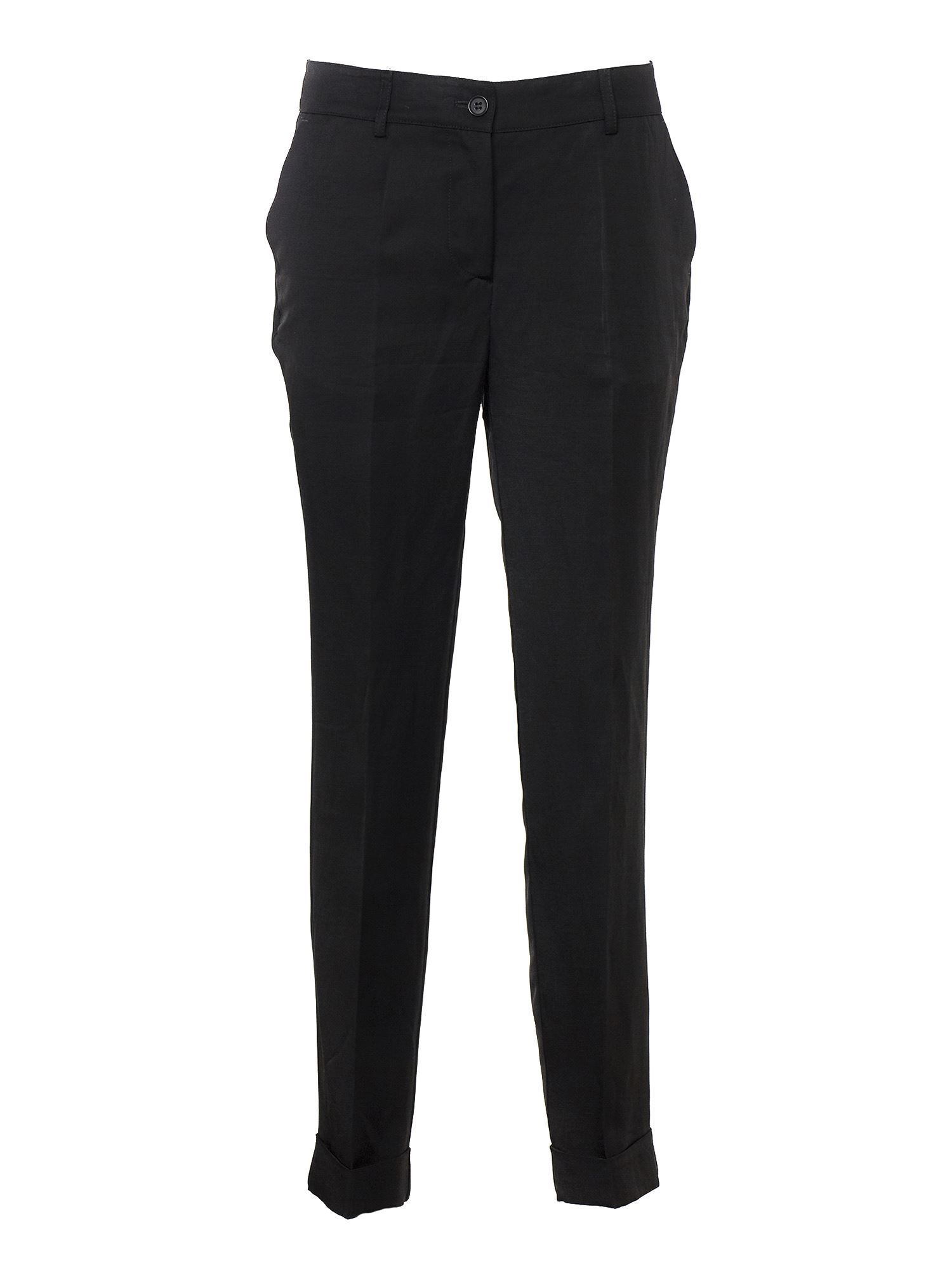 P.a.r.o.s.h. SLIM TROUSERS IN BLACK