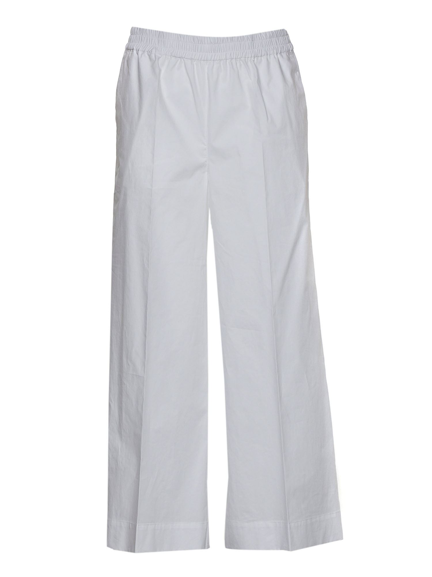 P.a.r.o.s.h. CROP TROUSERS IN WHITE