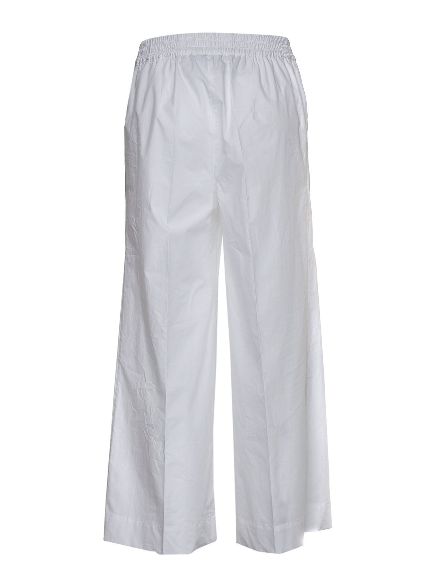 P.A.R.O.S.H. Cottons CROP TROUSERS IN WHITE