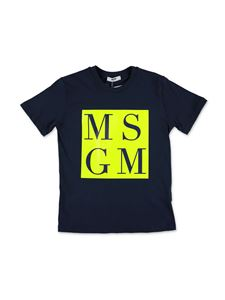 MSGM Kids - Ciao Milano T-shirt in navy blue