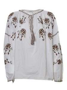 Parosh - Embroidered blouse in white