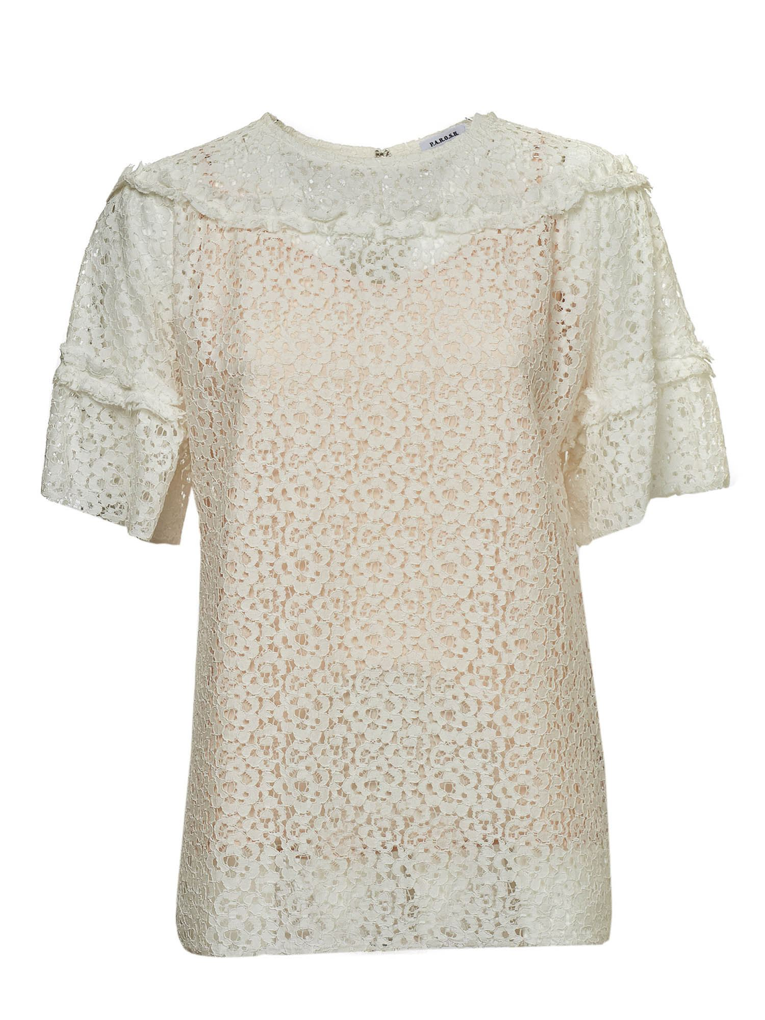 P.a.r.o.s.h. LACE TOP IN WHITE