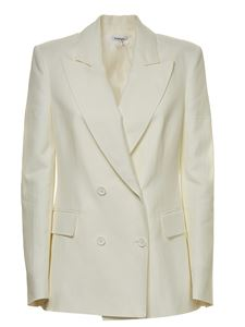Parosh - Double-breasted jacket in white