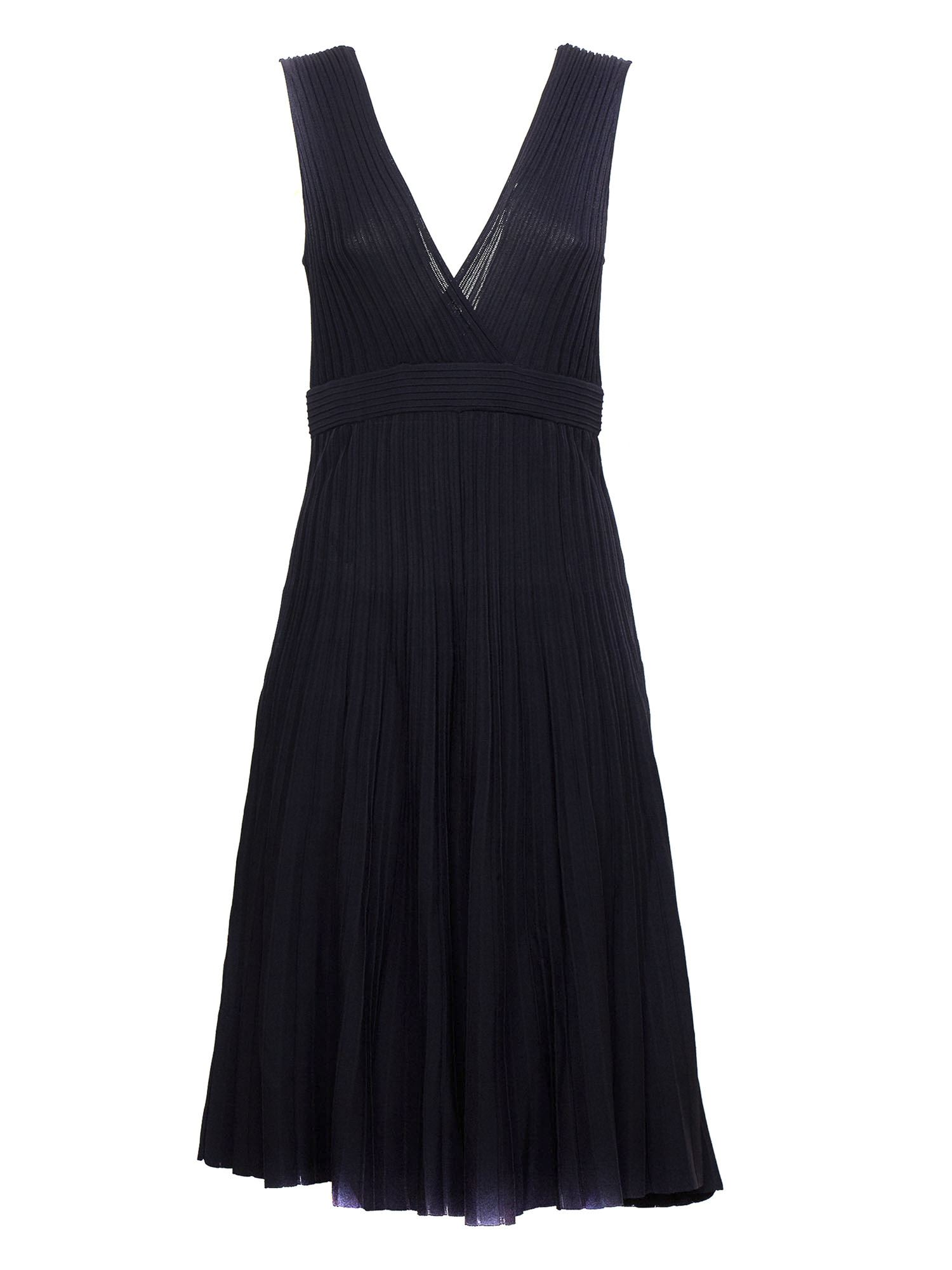 P.a.r.o.s.h. RIBBED DRESS IN BLUE