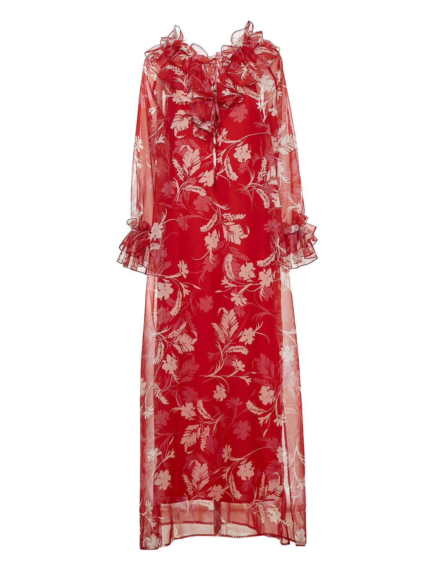 P.a.r.o.s.h. Clothing FLORAL DRESS IN RED