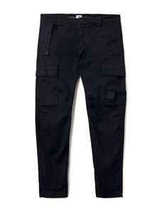 CP Company - Stretch Sateen Logo Badge Pants in black