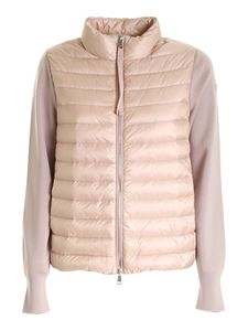 Moncler - Quilted tricot cardigan in pink