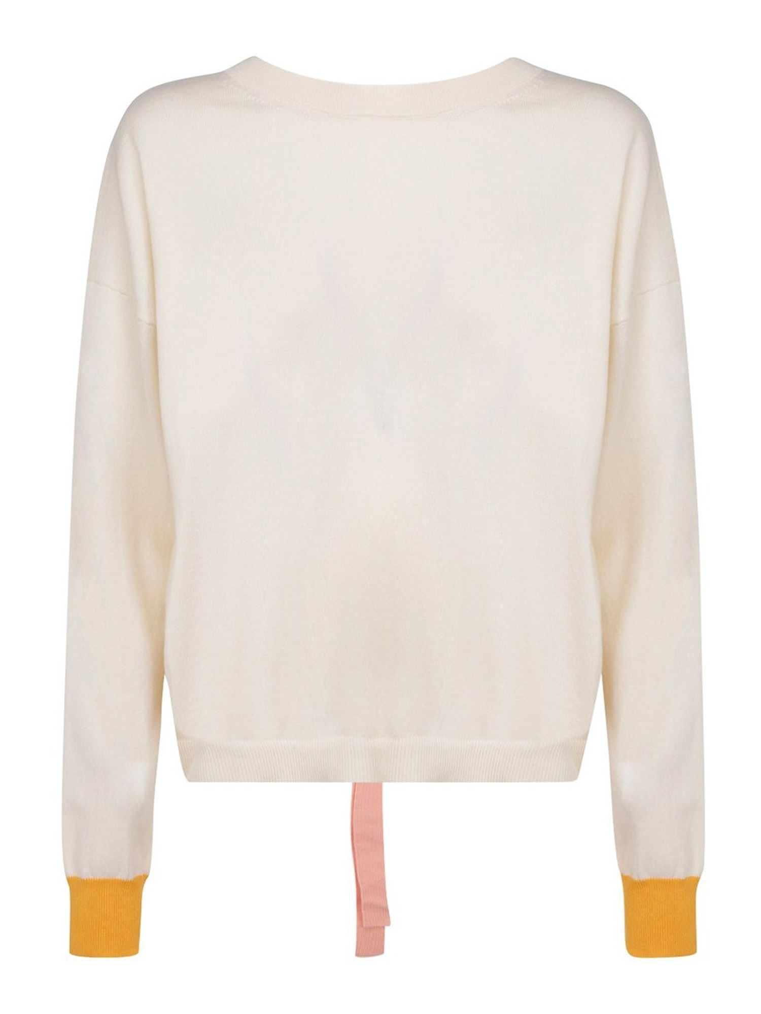 Marni OPEN BACK COTTON JUMPER IN BEIGE