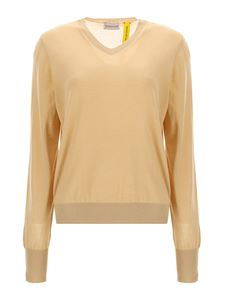Moncler Genius - Two-tone cashmere sweater in beige