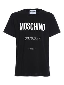 Moschino - Printed cotton T-shirt in black