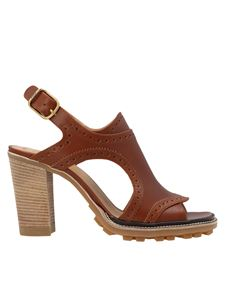 Chloé - Franne heeled sandals in brown