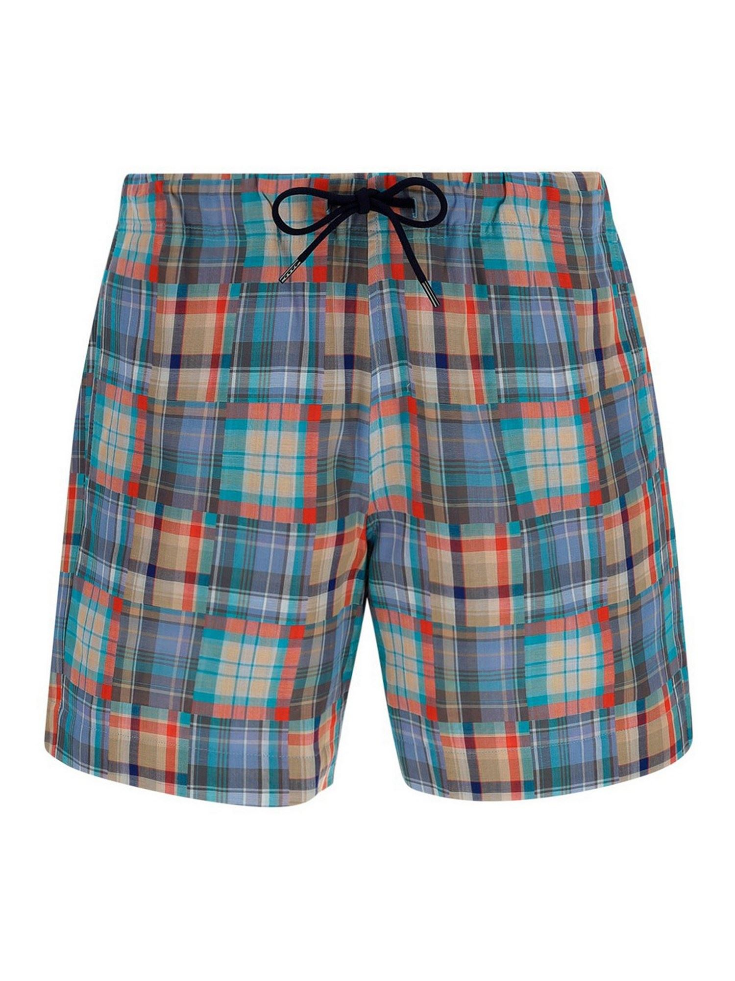 Paul Smith Cottons CHECKED COTTON SHORT IN MULTICOLOR