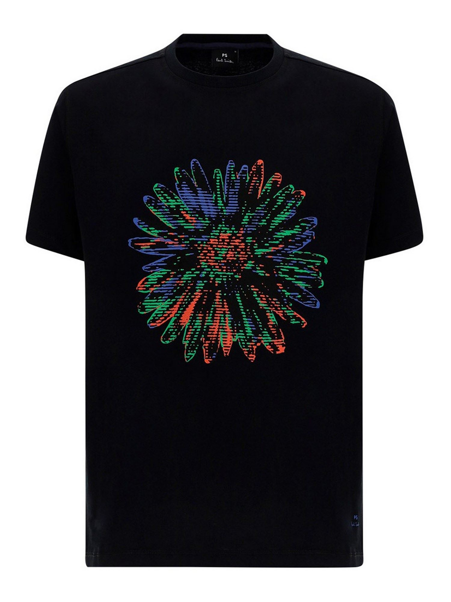 PAUL SMITH FLOWER T-SHIRT IN BLACK