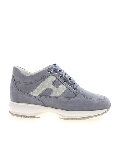 Interactive sneakers in light blue