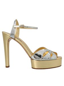 Casadei - Biba sandals in gold and silver