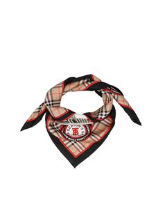 Burberry - Arc ad bow archival campaign print scarf