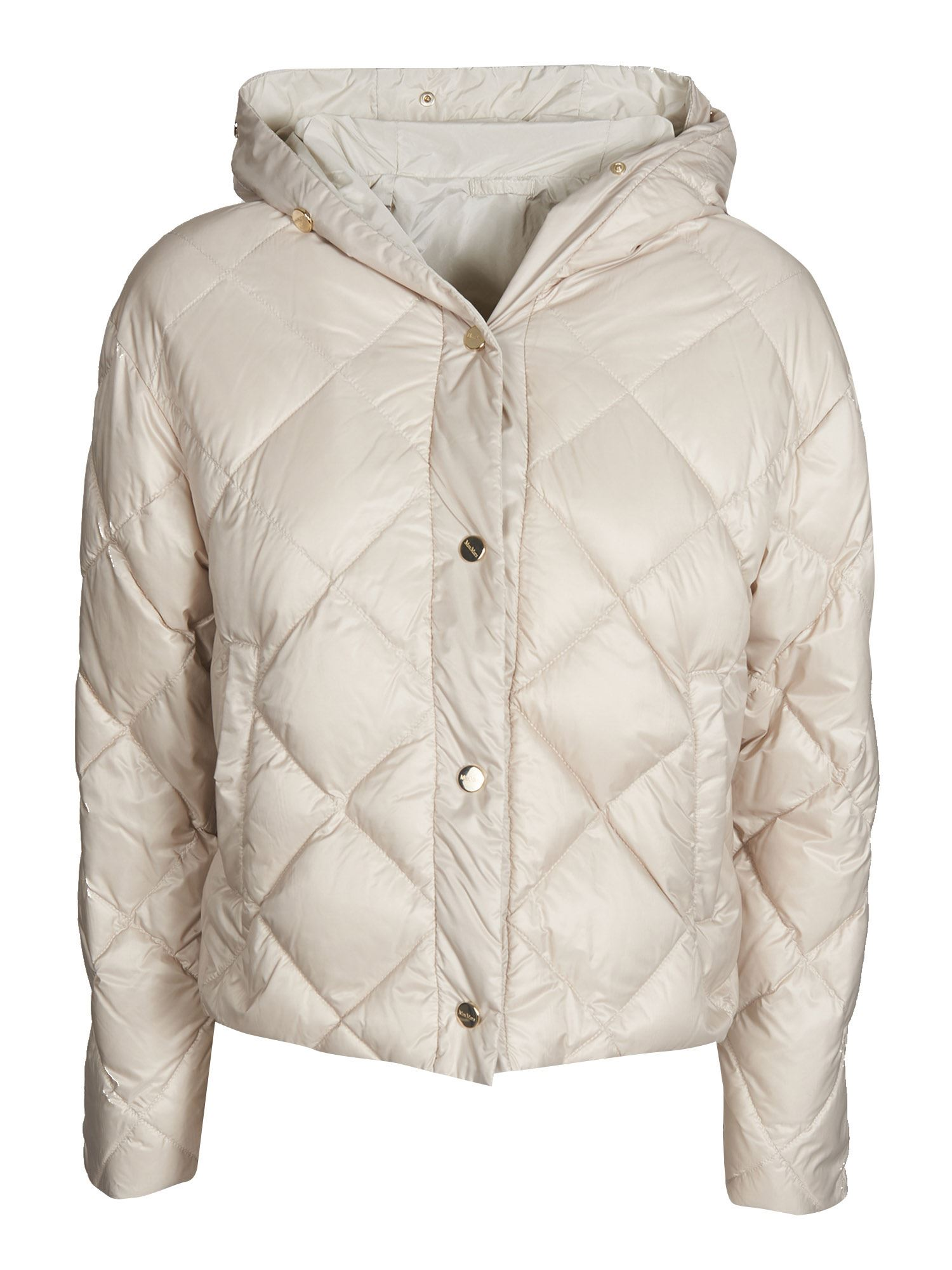 Max Mara Jackets CISOFT HOODED DOWN JACKET IN ALBINO COLOR