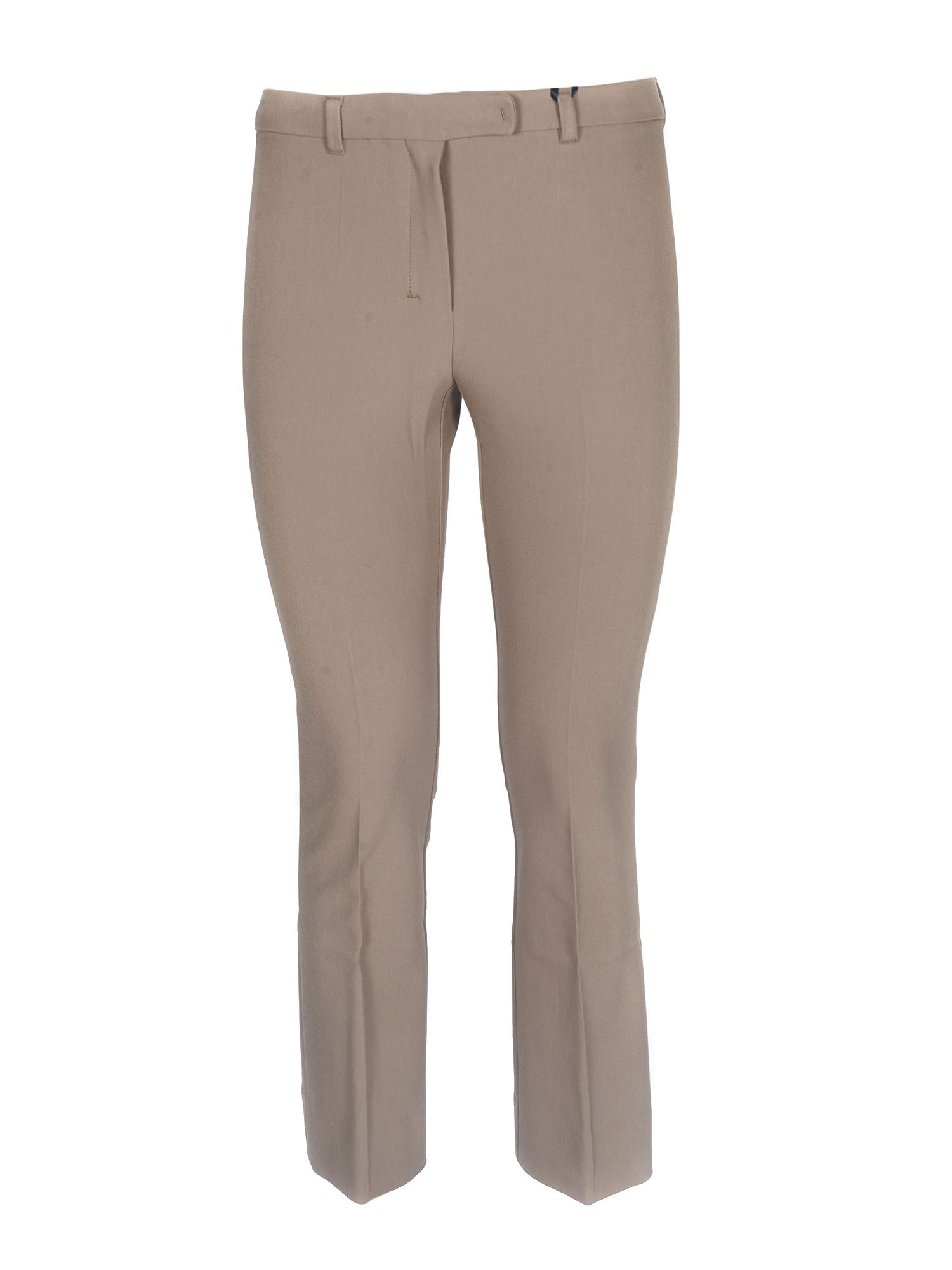 Max Mara Cottons PACCA CROP TROUSERS IN CAMEL COLOR