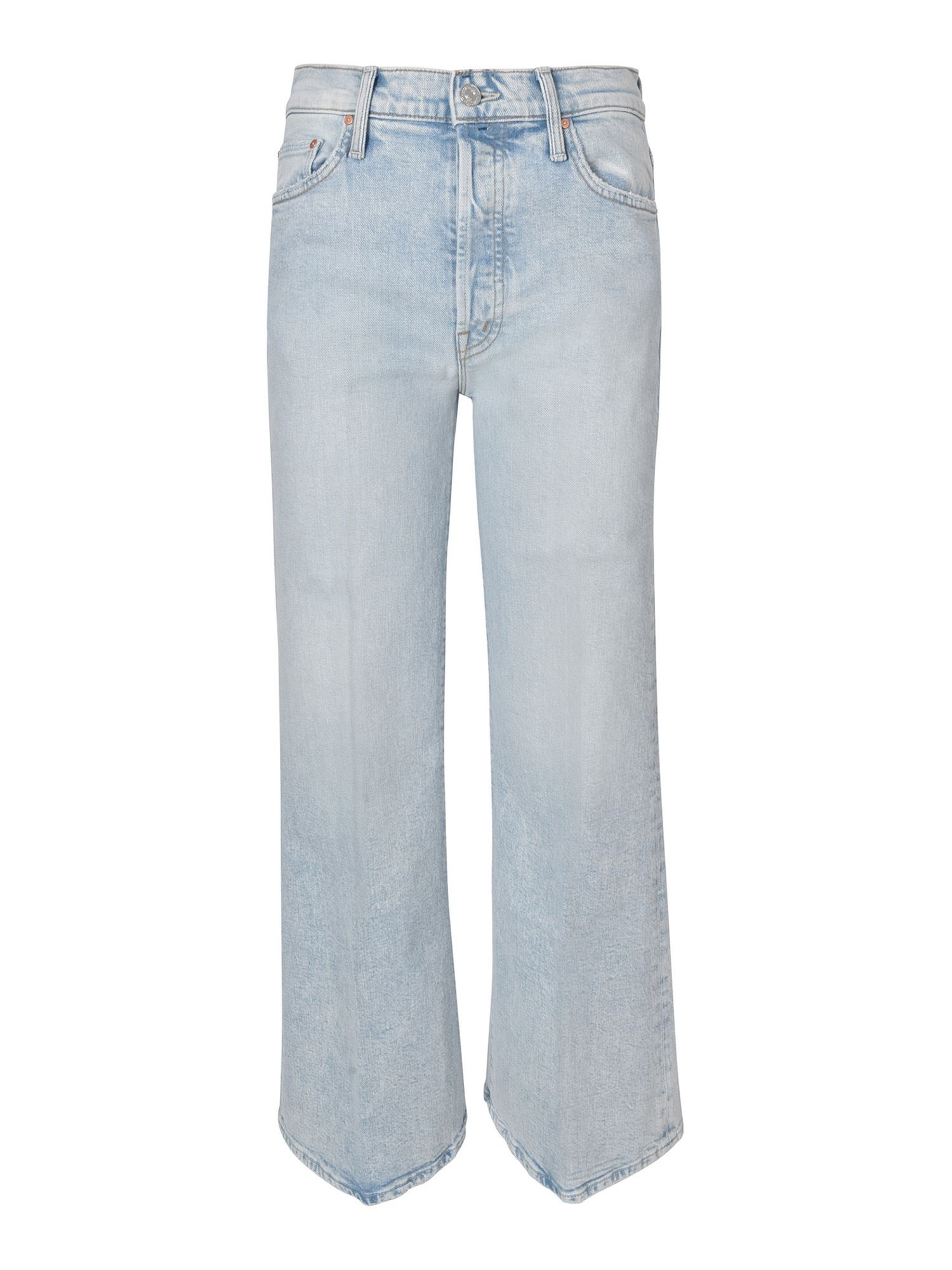 Mother THE TOMCAT ROLLER JEANS IN LIGHT BLUE