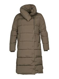 Closed - Knee length puffer jacket in green