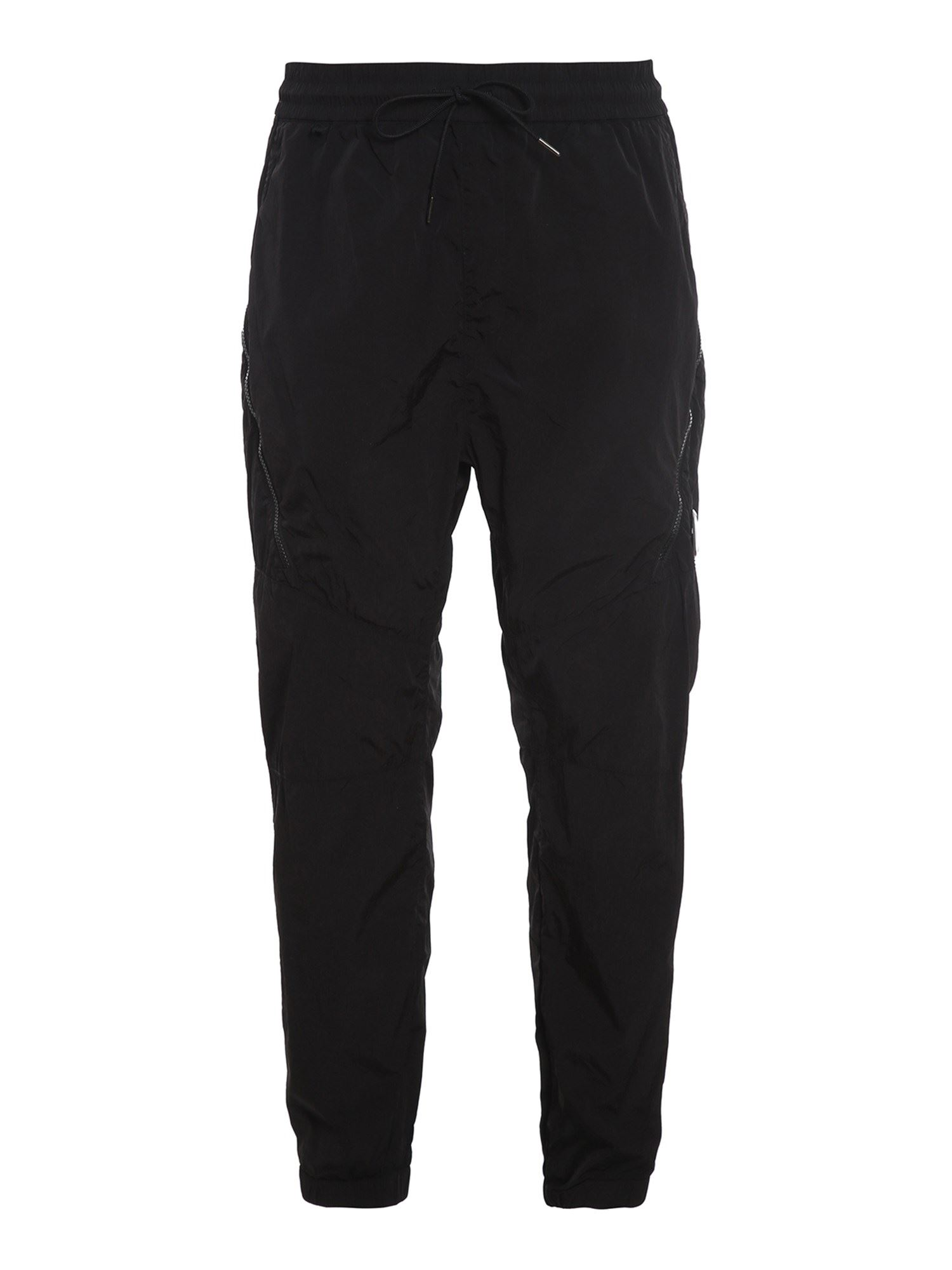 C.P. COMPANY CARGO TROUSERS IN BLACK