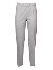 D.Exterior - Wool blend trousers in grey mélange
