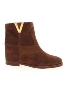Via Roma 15 - V suede ankle boots in brown