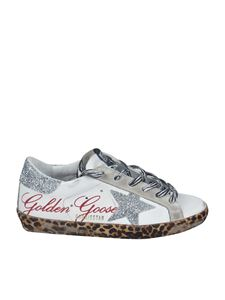 Golden Goose - Sneakers Superstar bianche con suola animalier