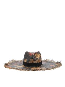 Etro - Floral patterned raffia hat in multicolor