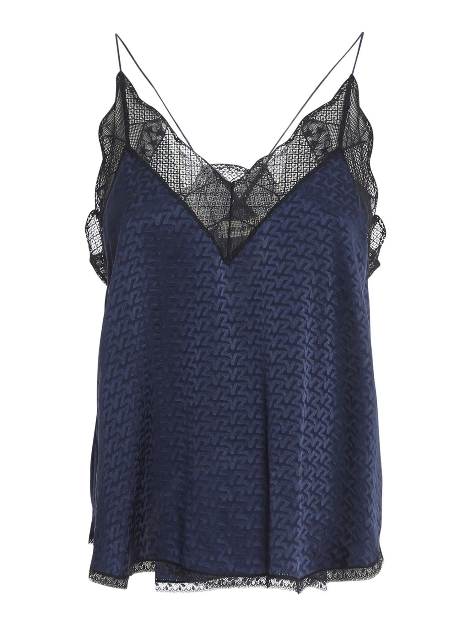 Zadig & Voltaire CHRISTY TOP IN BLUE