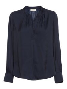 Zadig & Voltaire - Tink Satin blouse in blue