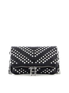 Zadig & Voltaire - Studded leather mini bag in black