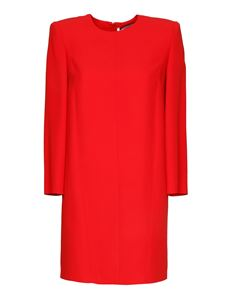 Givenchy - Shoulder pad viscose dress in red